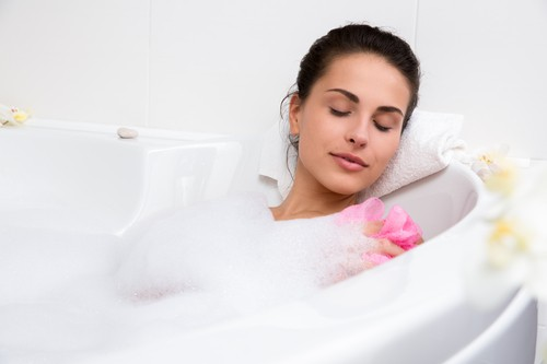 San Diego mattress stores - warm bath for better sleep
