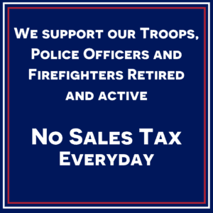 We support our Troops, Police Officers and Firefighters Retired and active (1)