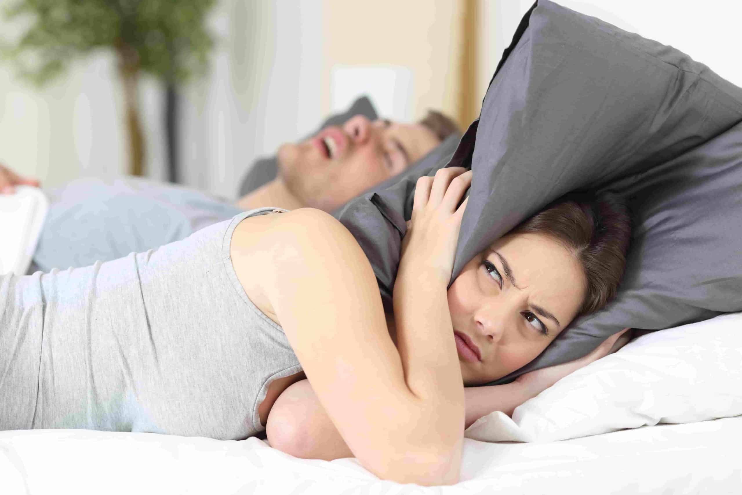 How can I sleep with my husband snoring