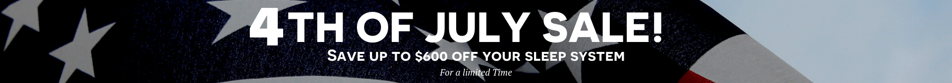 White American Flag Photo Sale Promo Fourth of July Facebook Post