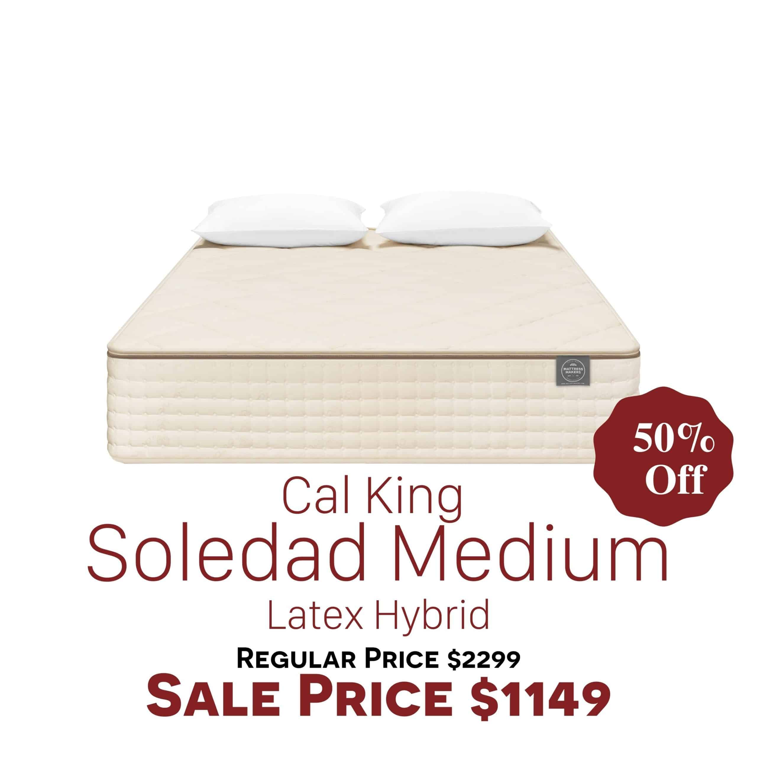 Cal King Soledad Medium Clearance